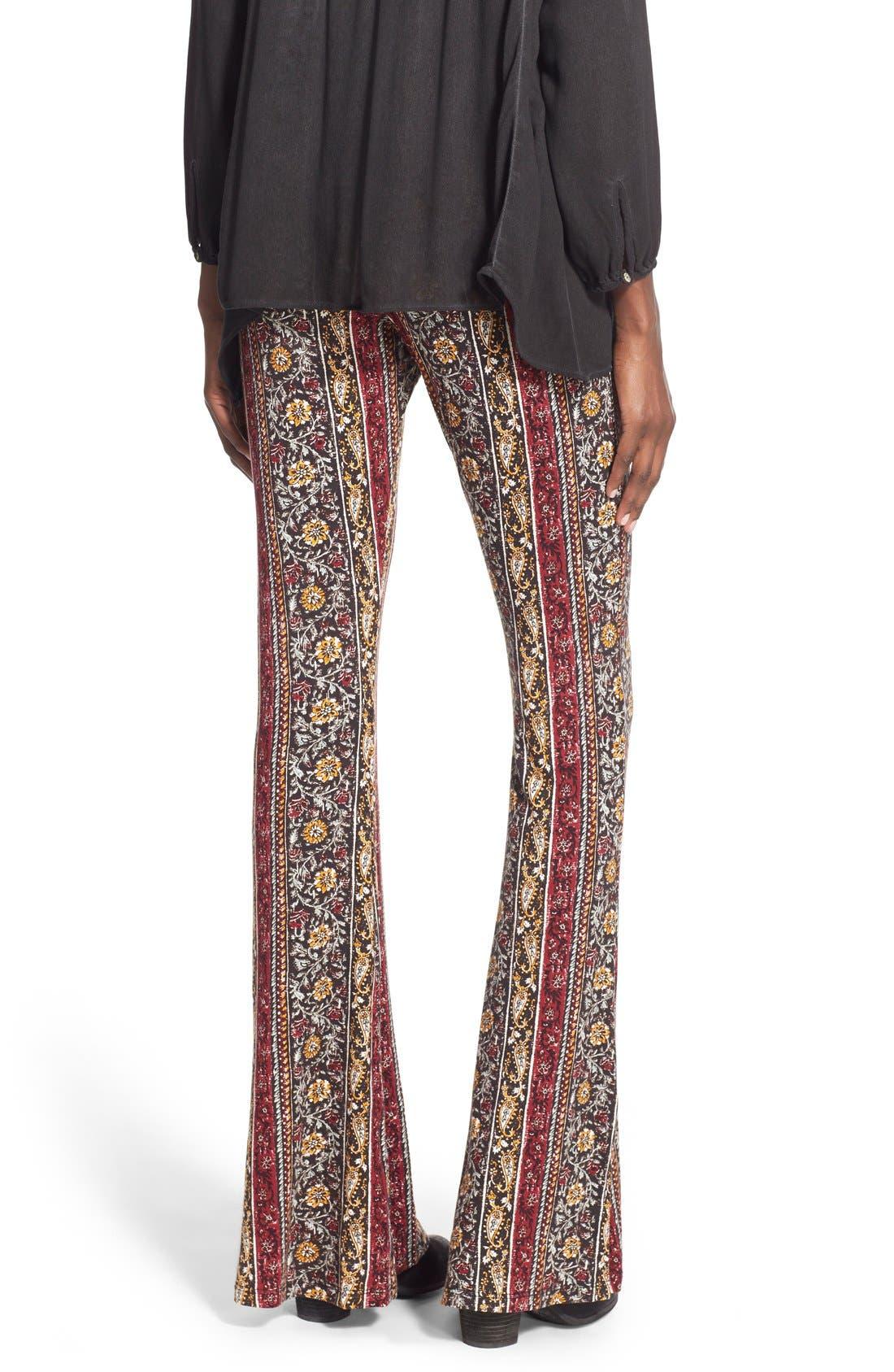 ,                             Mixed Print Flare Leg Pants,                             Alternate thumbnail 34, color,                             012