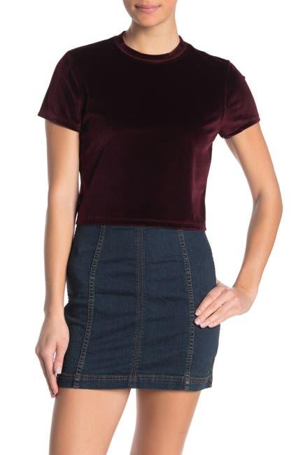 Cotton On Velvet Short Sleeve T Shirt Nordstrom Rack