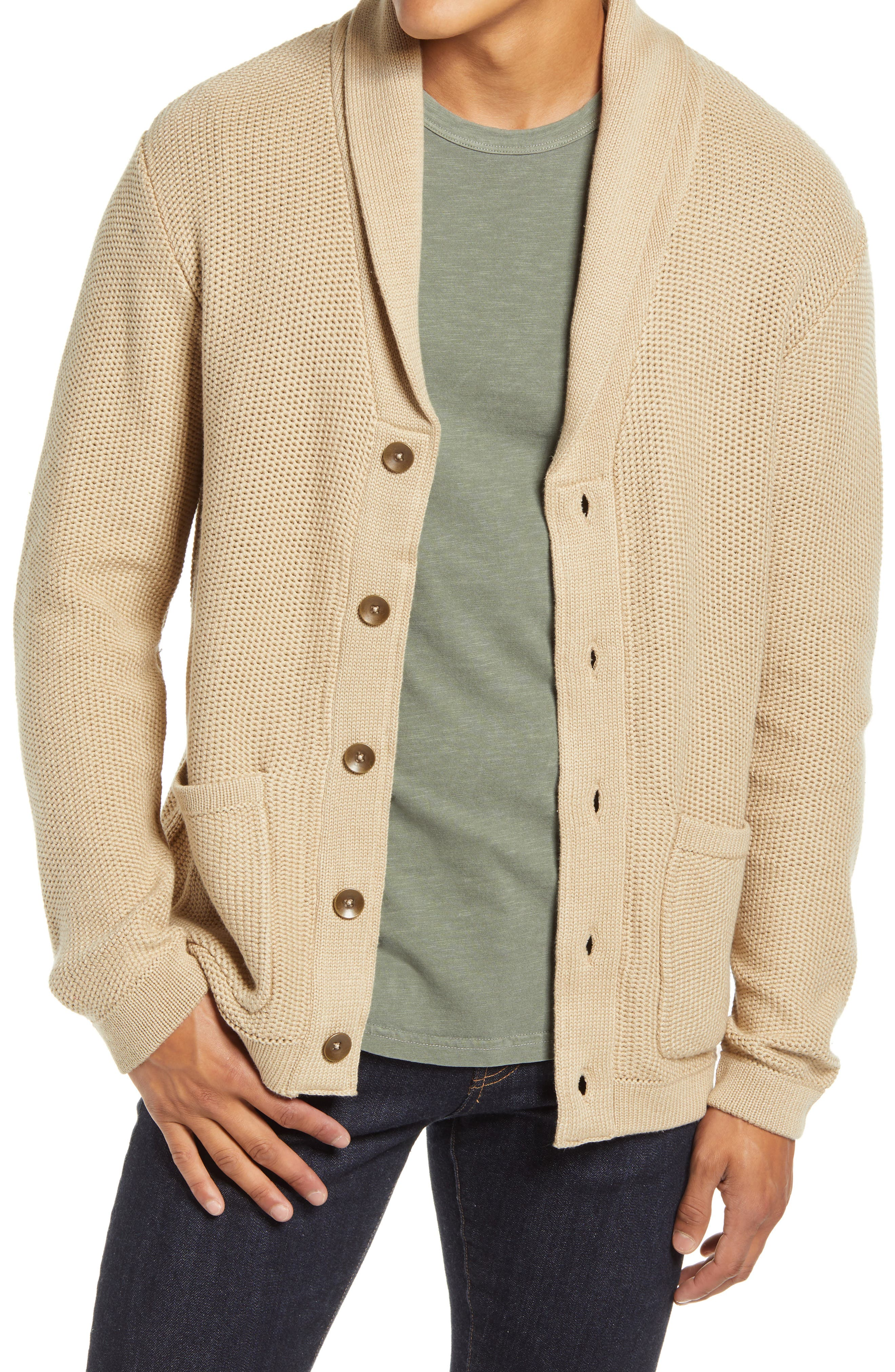 A shawl collar and roomy, layerable fit bring essential details to a cardigan crafted to keep you comfortable in the cold or by the fire with a bestseller. Style Name: Liverpool Shawl Collar Cardigan. Style Number: 6089000. Available in stores.