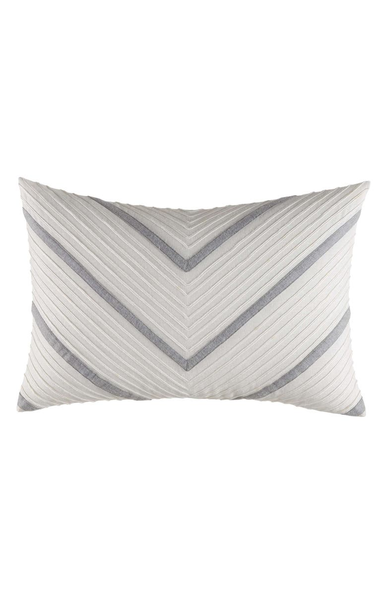 NAUTICA Clearview Chevron Breakfast Pillow, Main, color, IVORY