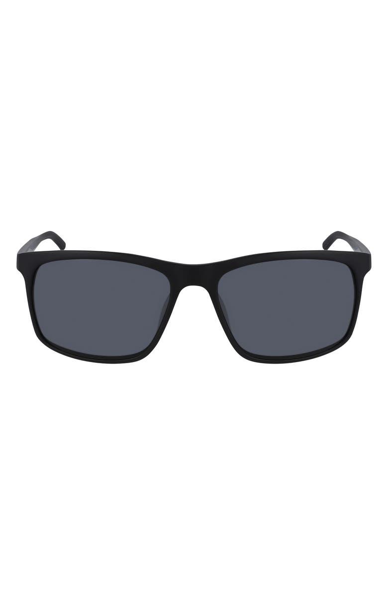 NIKE Lore Square Sunglasses, Main, color, MT BLACK/ LIGHT BONE/ DARK GR