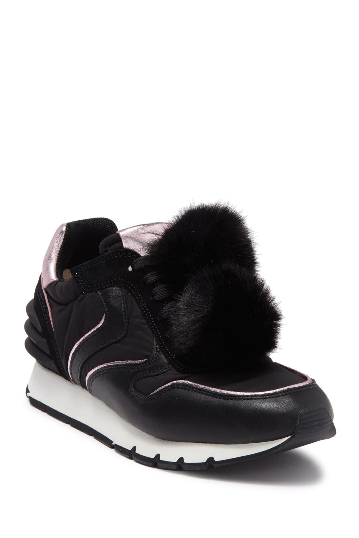 Image of Viola Blanche Julia Faux Fur Pompom Sneaker