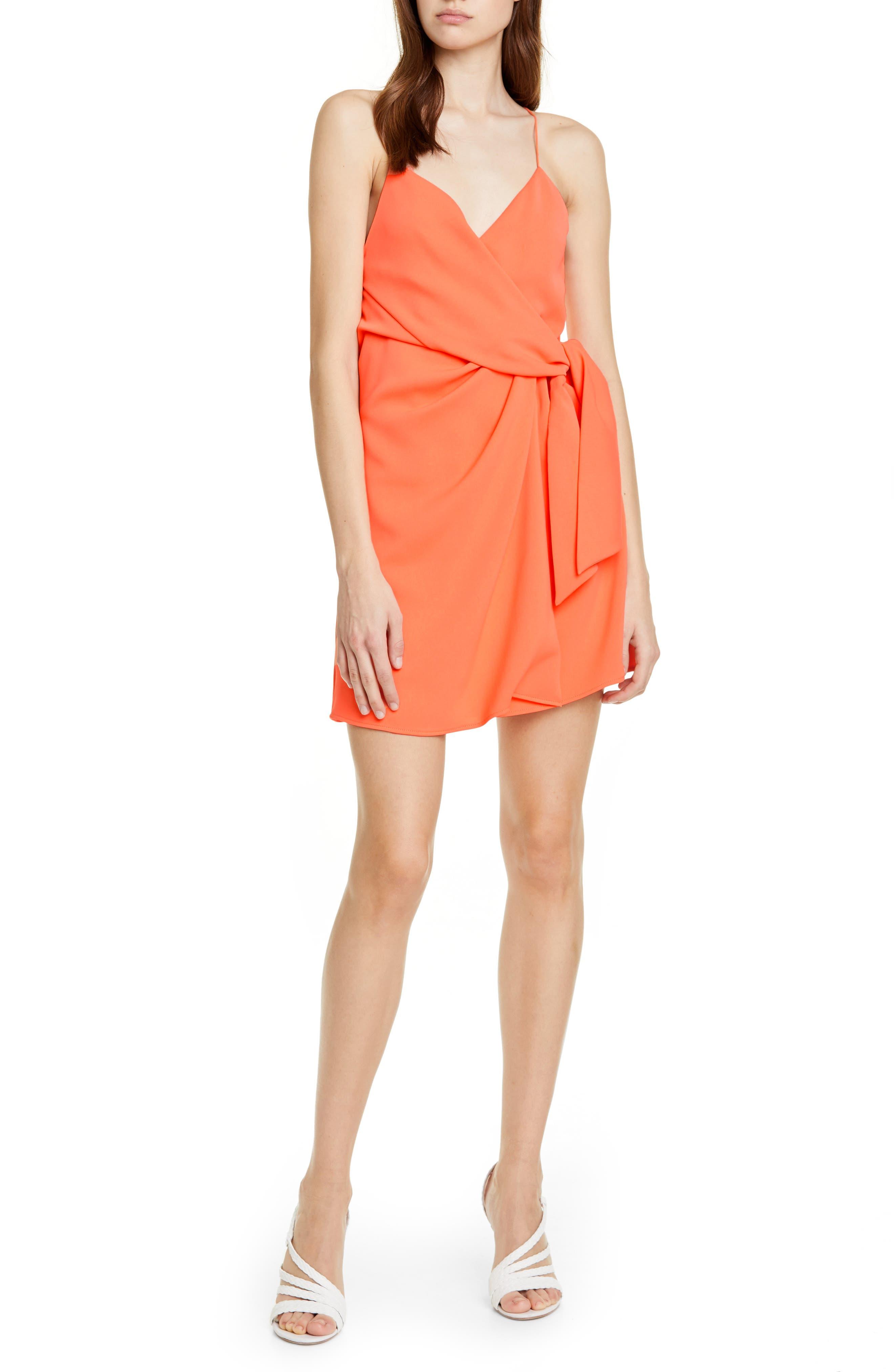 Alice + Olivia Katie Faux Wrap Dress, Orange