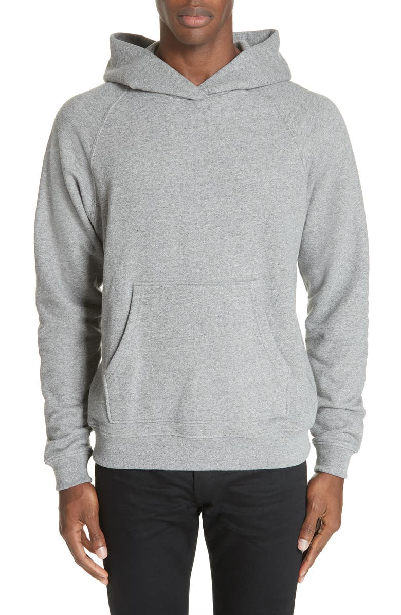 JOHN ELLIOTT Raglan Hooded Sweatshirt, Main, color, DARK GREY