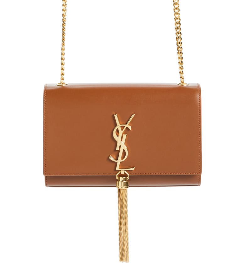 SAINT LAURENT Kate Tassel Calfskin Leather Shoulder Bag, Main, color, 207