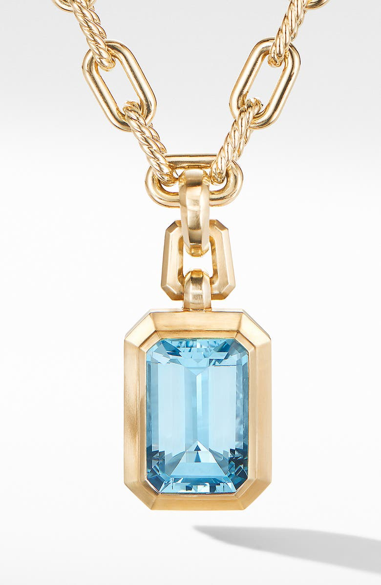 DAVID YURMAN Novella Pendant in 18K Yellow Gold, Main, color, GOLD/ SKY BLUE TOPAZ