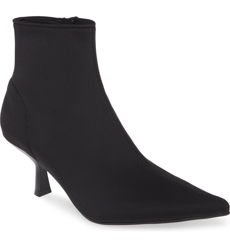 JEFFREY CAMPBELL Egnyte Sock Bootie, Main, color, BLACK NEOPRENE