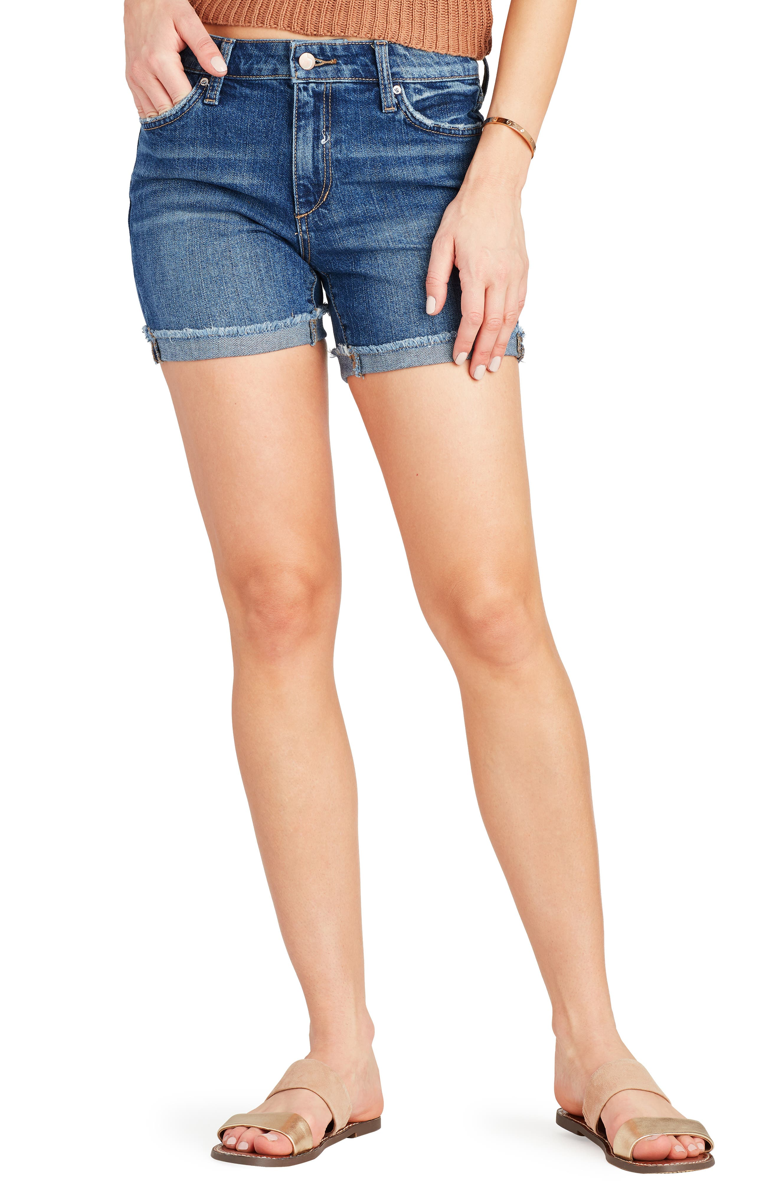 Joe's Frayed Denim Bermuda Shorts (Shira)