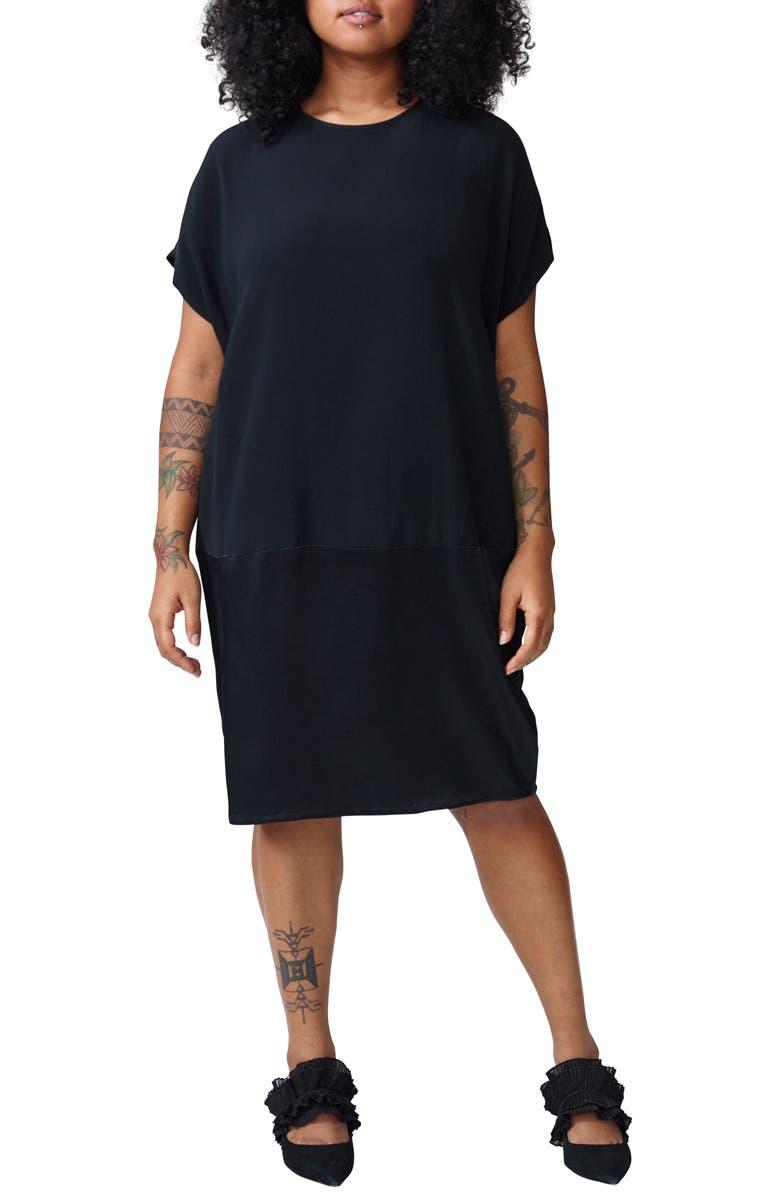 UNIVERSAL STANDARD Avenir Dress, Main, color, BLACK