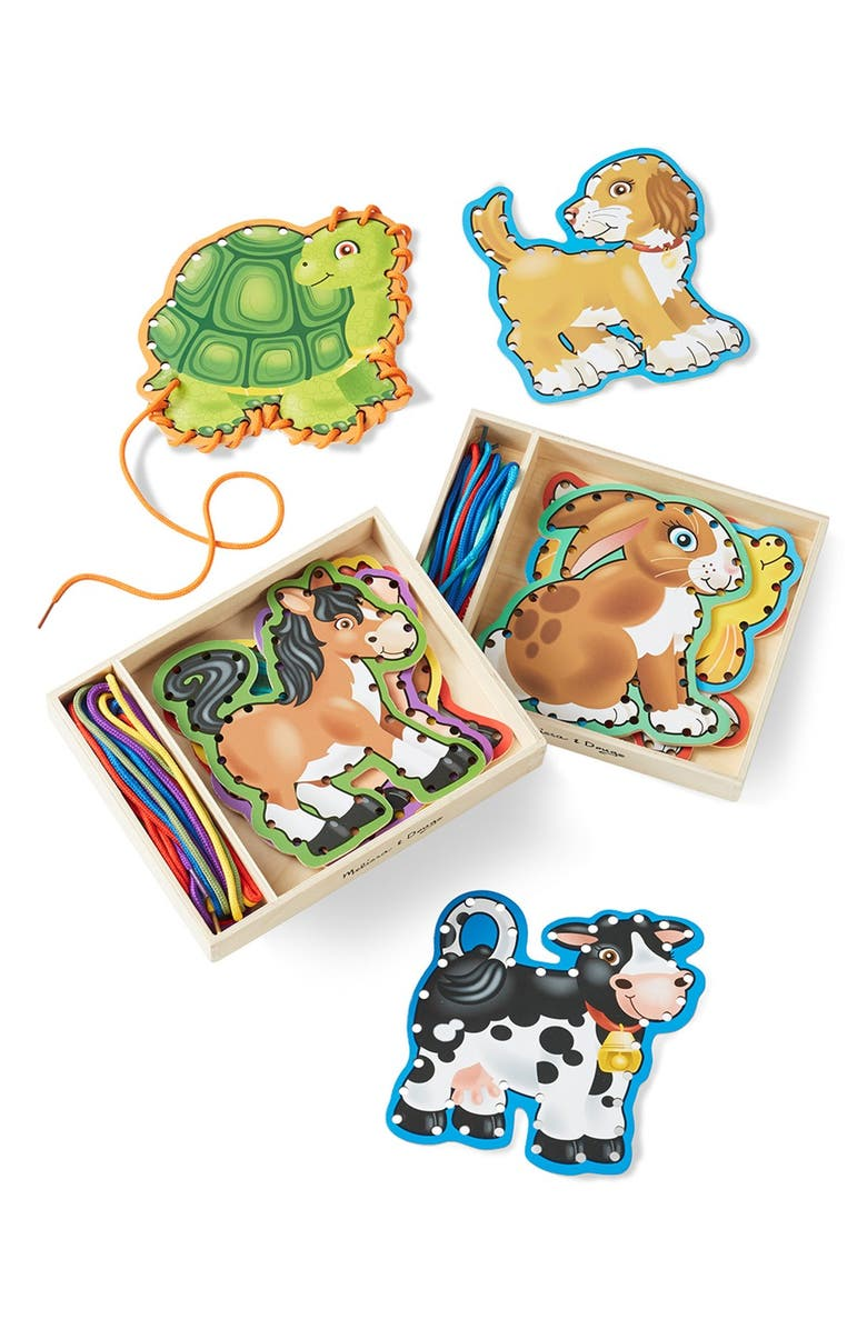 MELISSA & DOUG 'Lace and Trace' Animal Boards, Main, color, 200