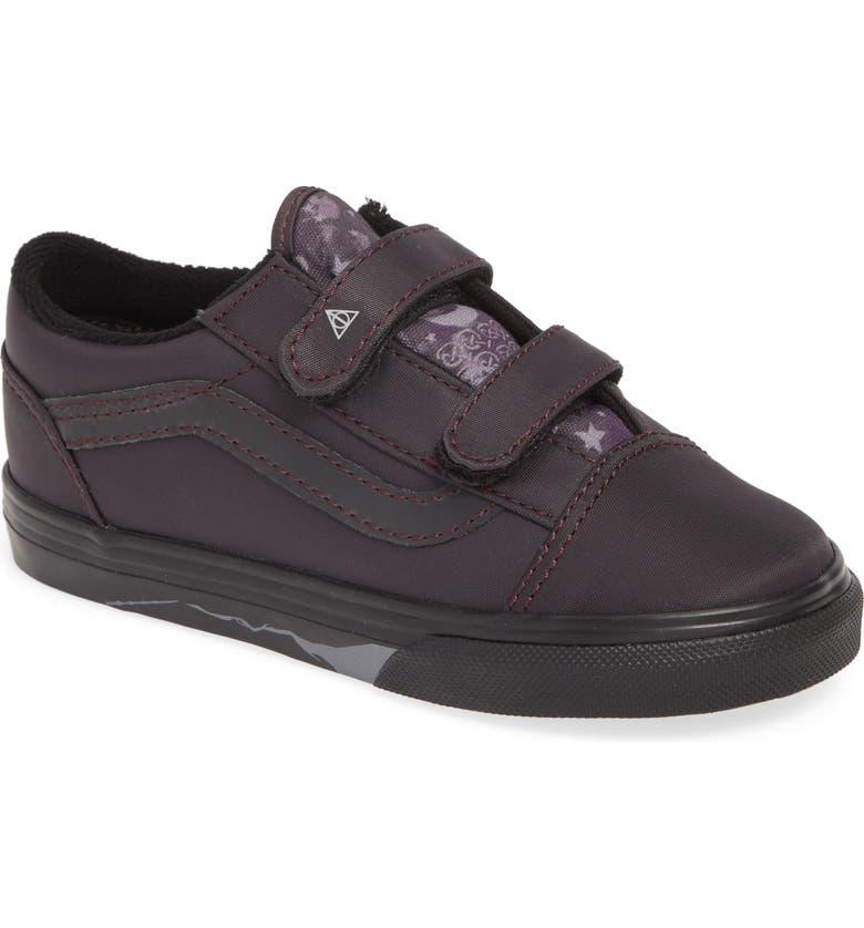 VANS x Harry Potter Old Skool V Sneaker, Main, color, DEATHLY HALLOWS/ BLACK