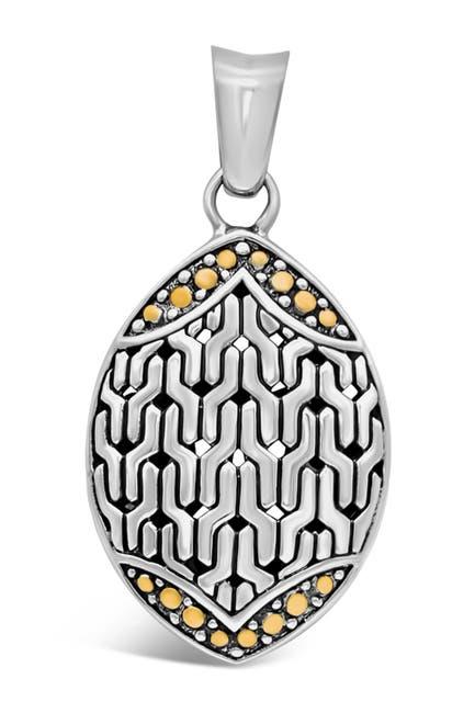 Image of DEVATA Sterling Silver Bali Filigree Pendant Necklace