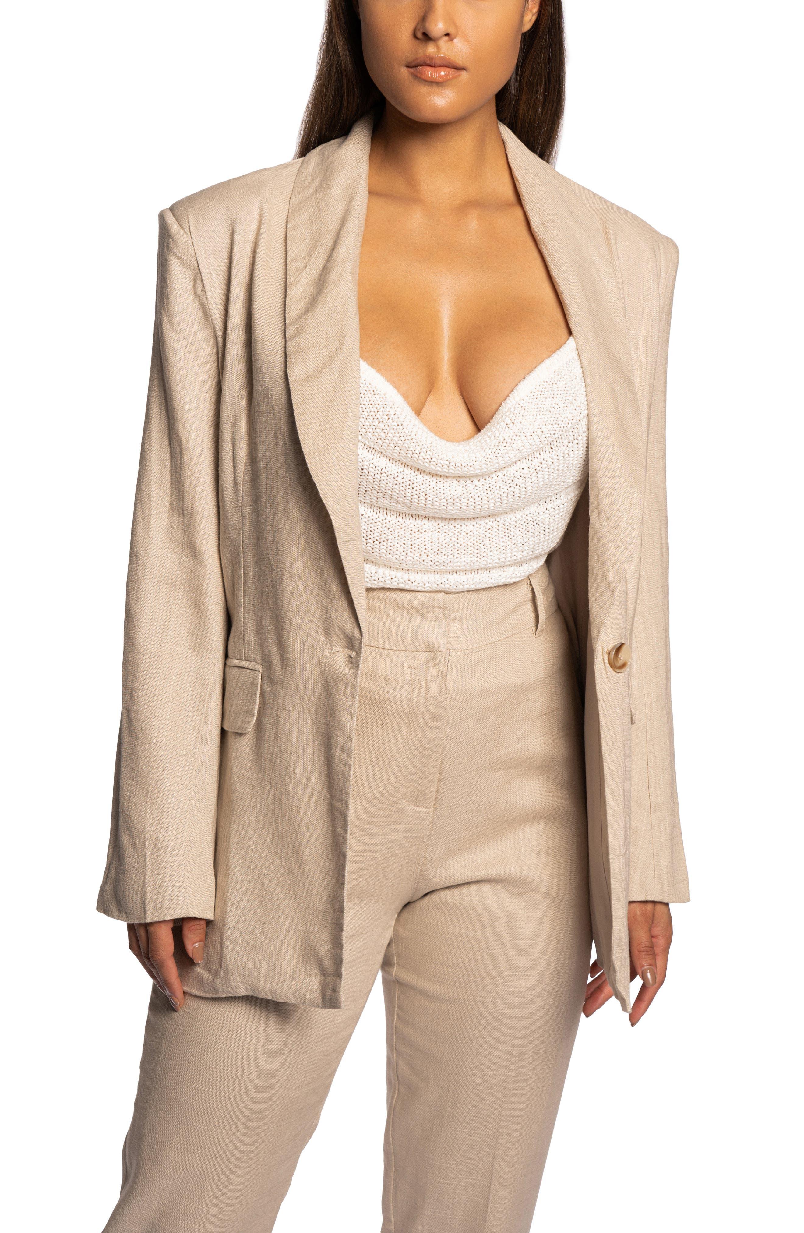 Parker Oversize Cotton & Linen Blazer