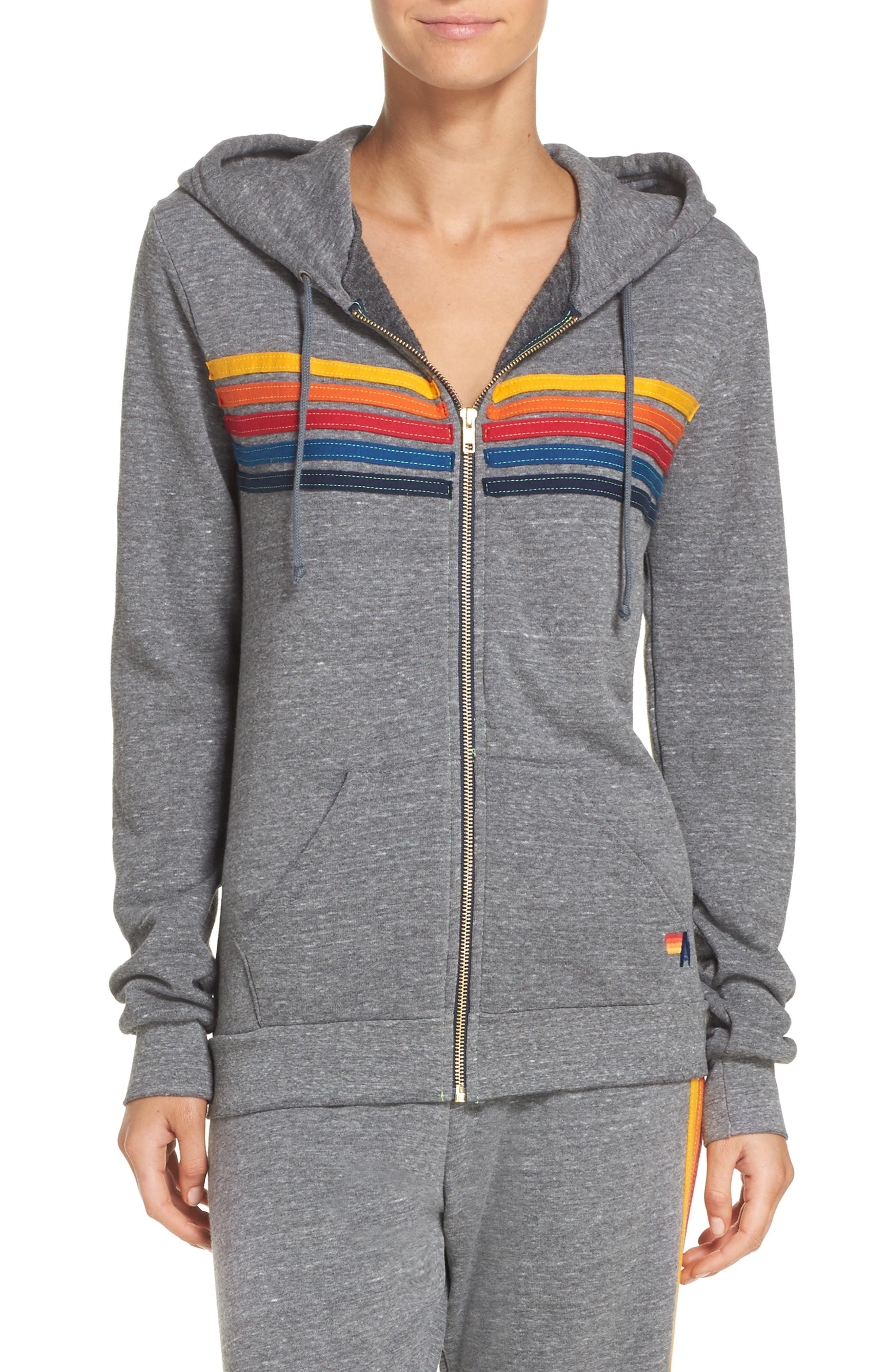5-Stripe Zip Hoodie