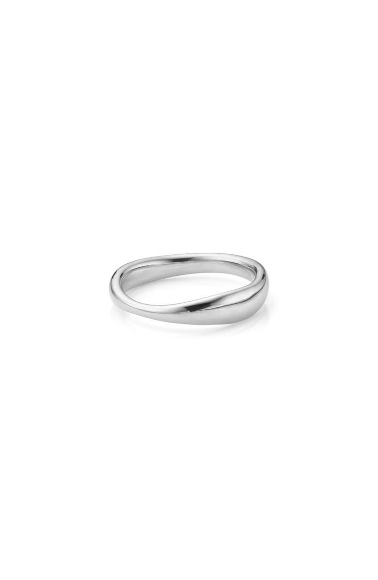 MONICA VINADER Nura Reef Stacking Ring, Main, color, SILVER