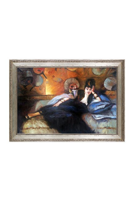 """Image of Overstock Art Lady with Fans, Portrait of Nina de Callais with Versailles Silver King Frame, 30"""" x 42"""""""