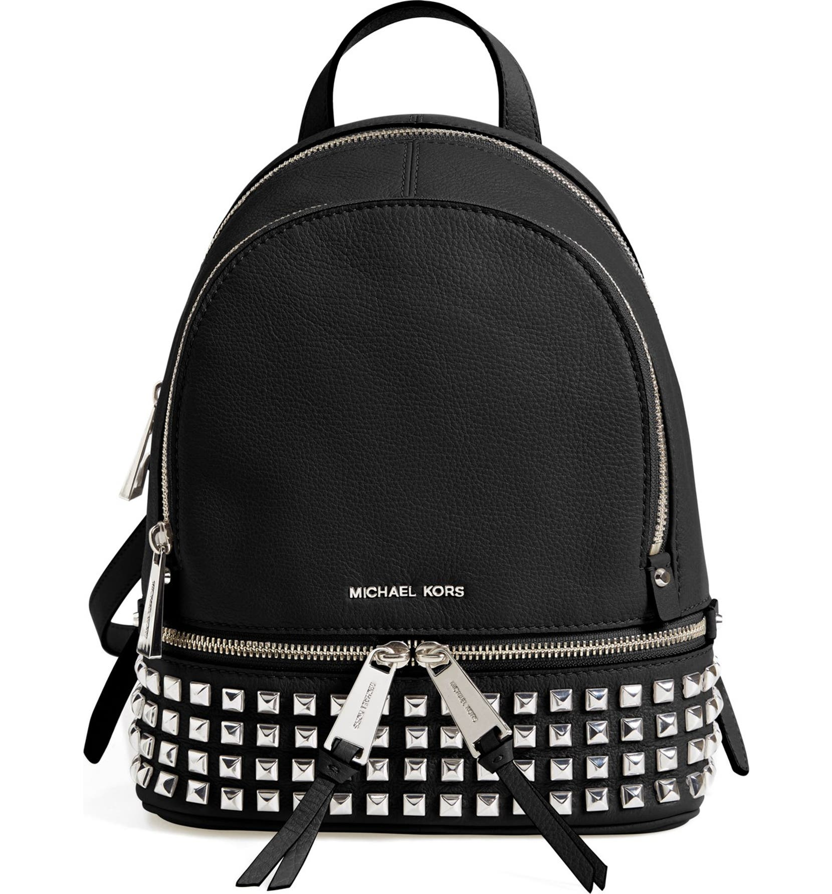 7487f5d6351 MICHAEL Michael Kors 'Small Rhea Zip' Studded Backpack | Nordstrom
