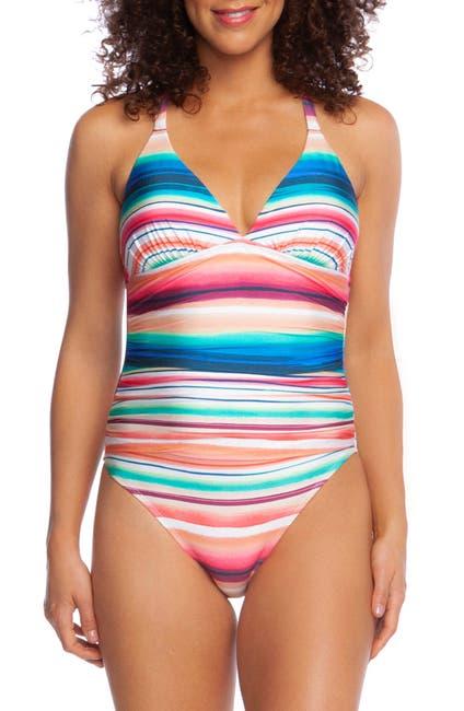 Image of La Blanca Swimwear Solar Stripe Mio One-Piece Swimsuit