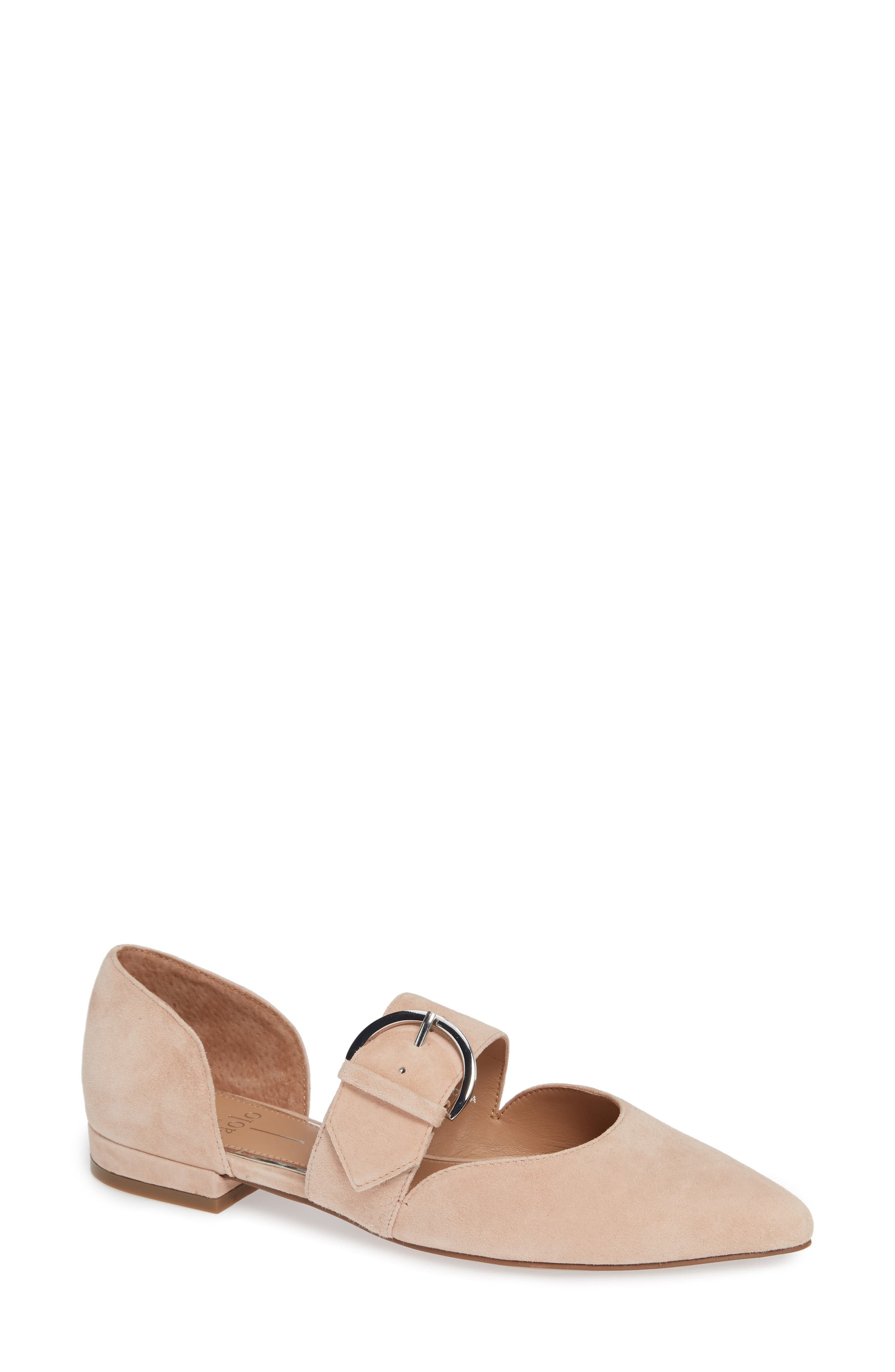 Linea Paolo Dean Pointy Toe Flat, Pink