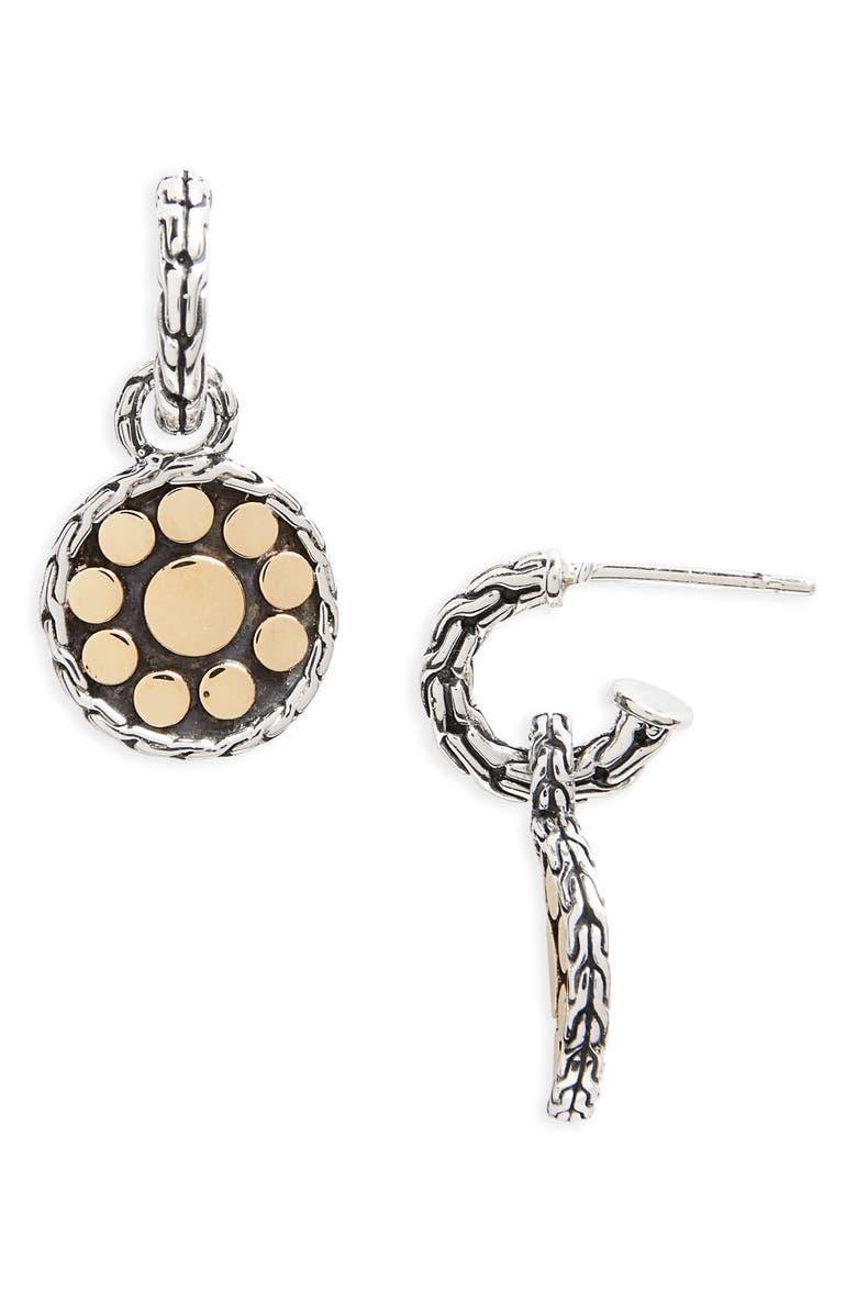 JOHN HARDY 'Dot' Drop Earrings, Main, color, STERLING SILVER