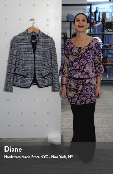 Notch Collar Tweed Jacket, sales video thumbnail