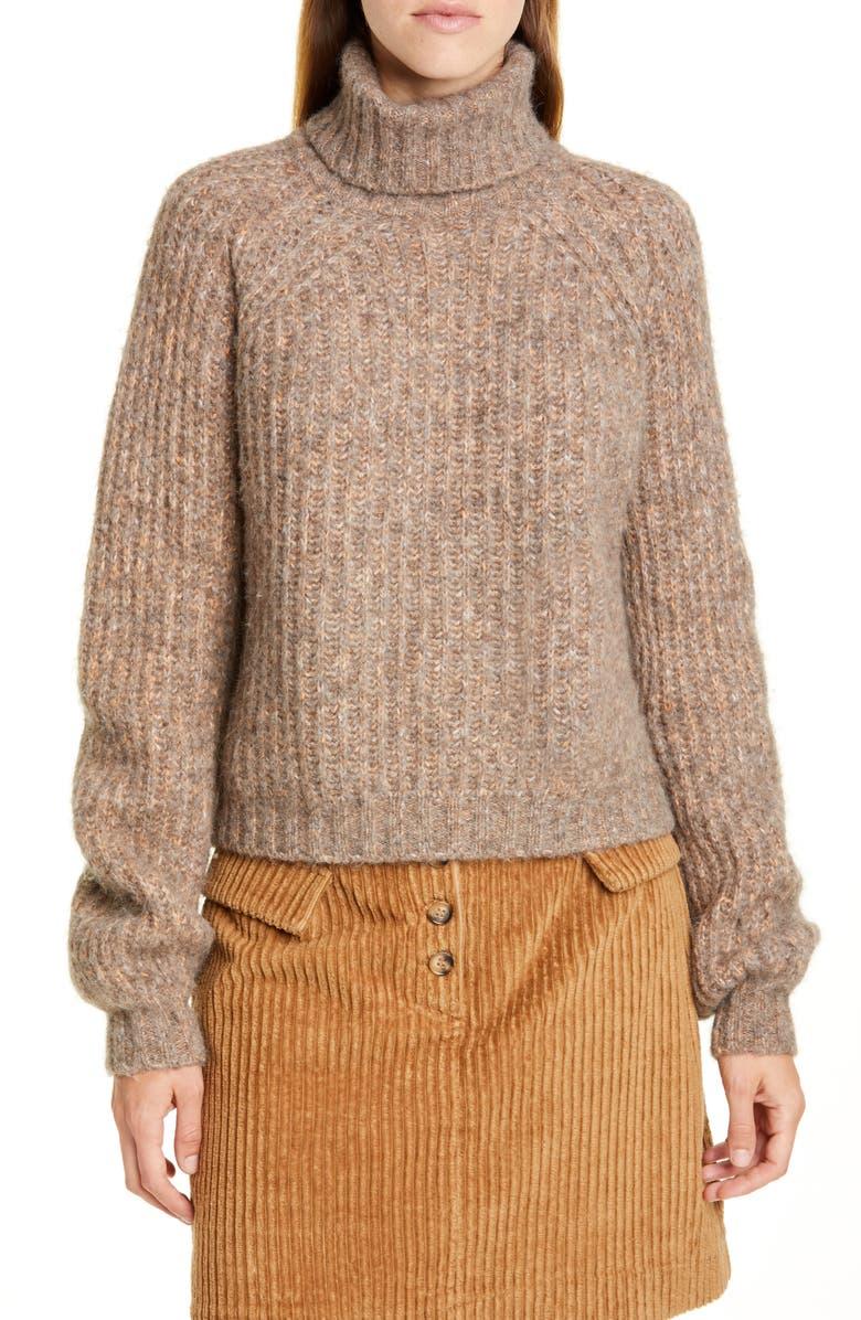 BAUM UND PFERDGARTEN Collins Turtleneck Sweater, Main, color, RAWHIDE