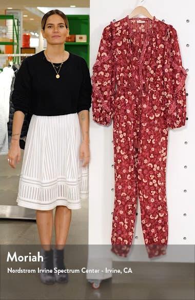 Delphine Floral Jumpsuit, sales video thumbnail