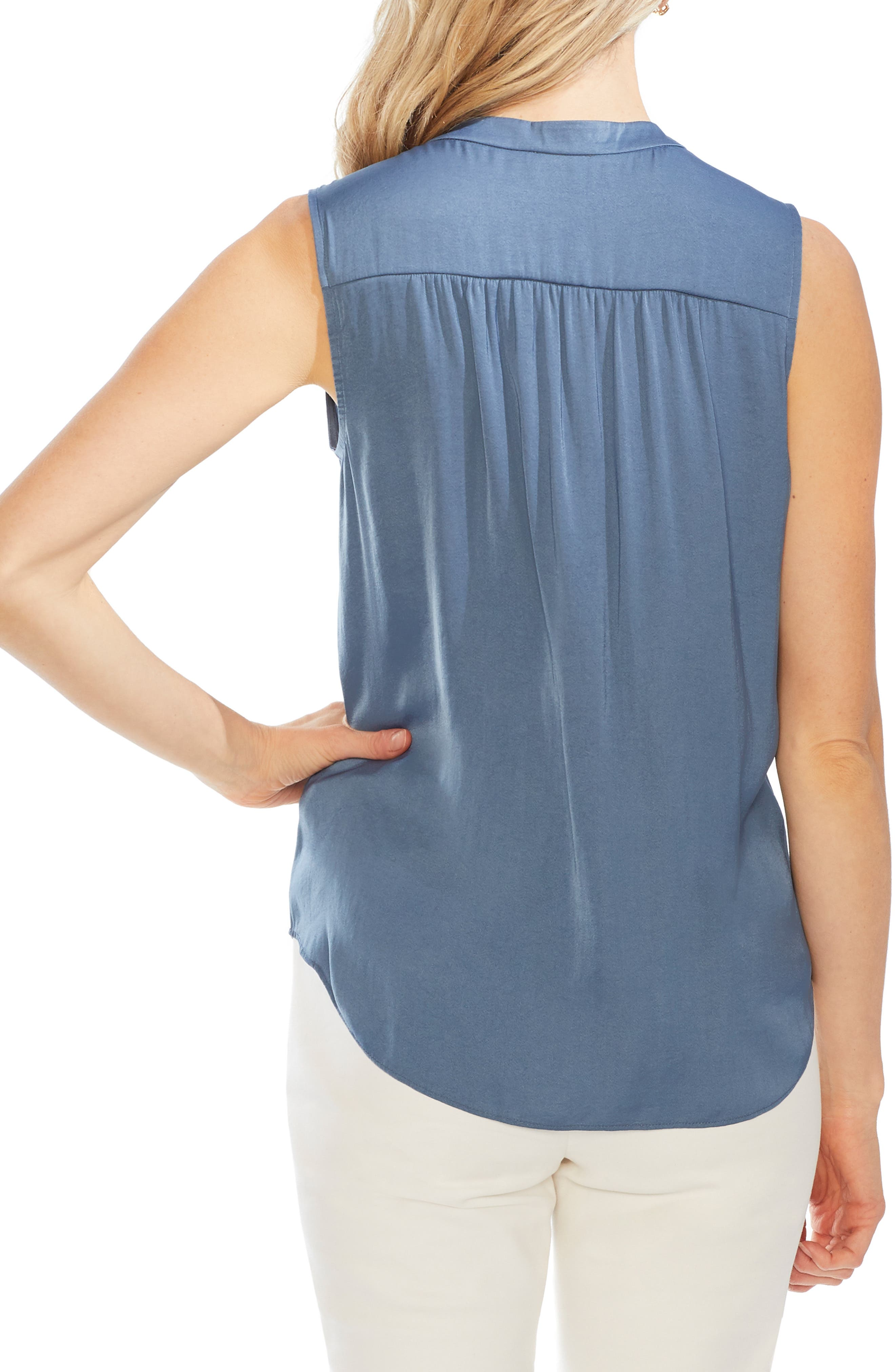 ,                             Rumpled Satin Blouse,                             Alternate thumbnail 28, color,                             418