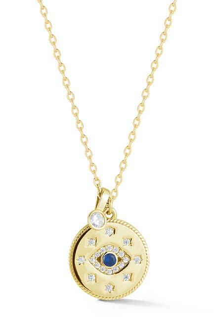Image of Sphera Milano Gold Vermeil Evil Eye Necklace