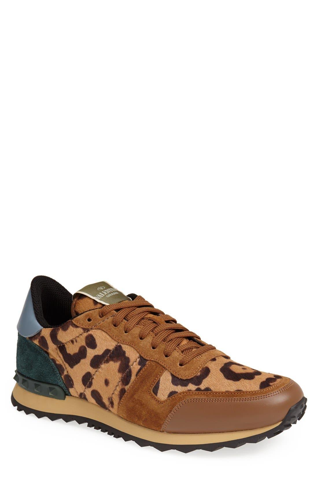 Valentino Leopard Print Sneaker (Men
