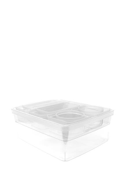 Image of Gourmet Home Heritage 10-Piece Assorted Clear Storage/Organizer Set