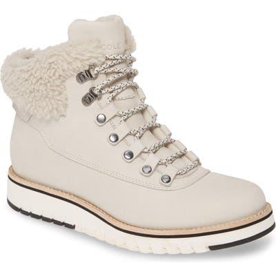 Cole Haan Grandexpl?re Genuine Shearling Trim Waterproof Hiker Boot, Beige