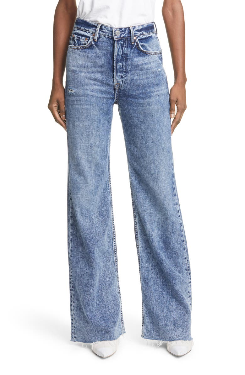 GRLFRND Carla Wide Leg Jeans, Main, color, FOR YOUR LOVE