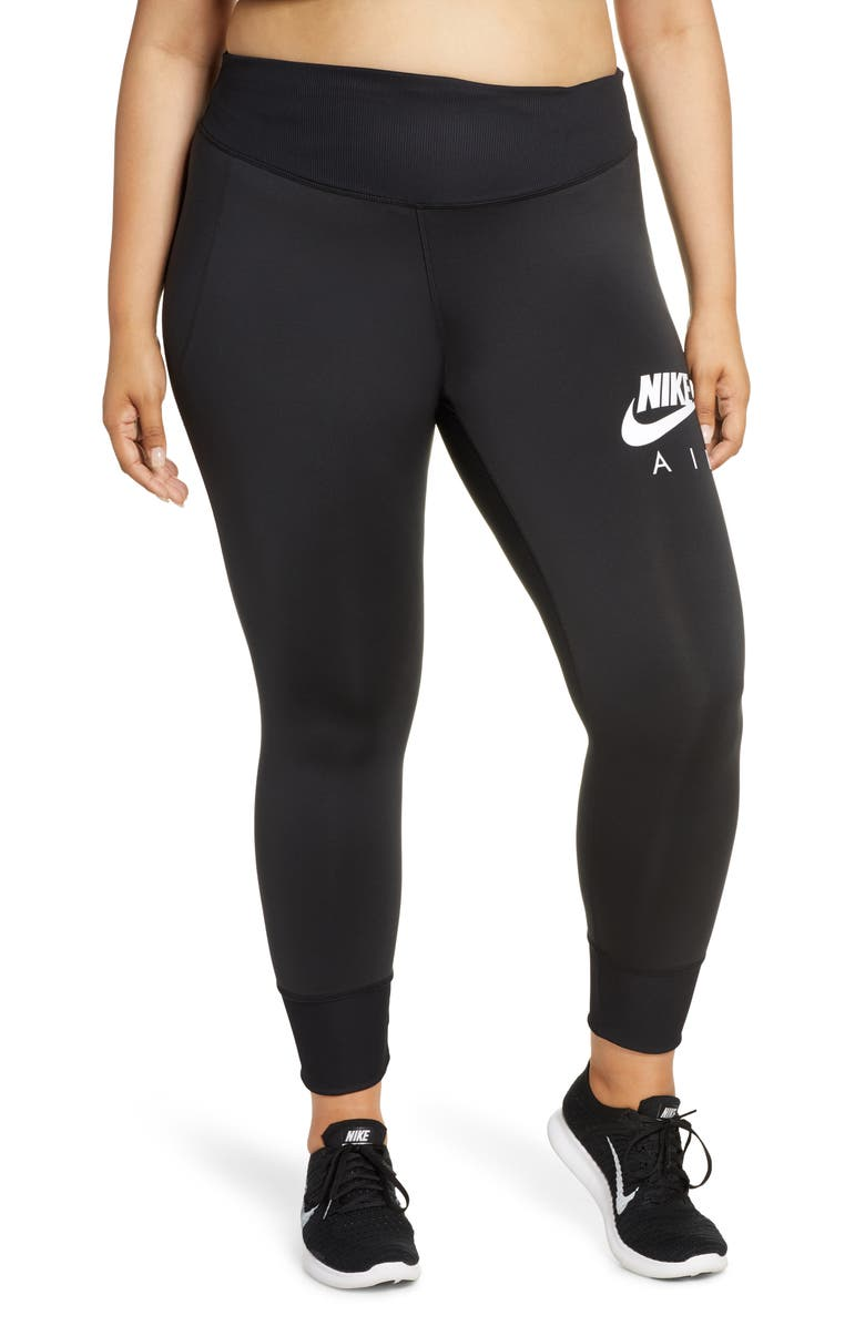NIKE Fast 7/8 Running Tights, Main, color, BLACK/ WHITE