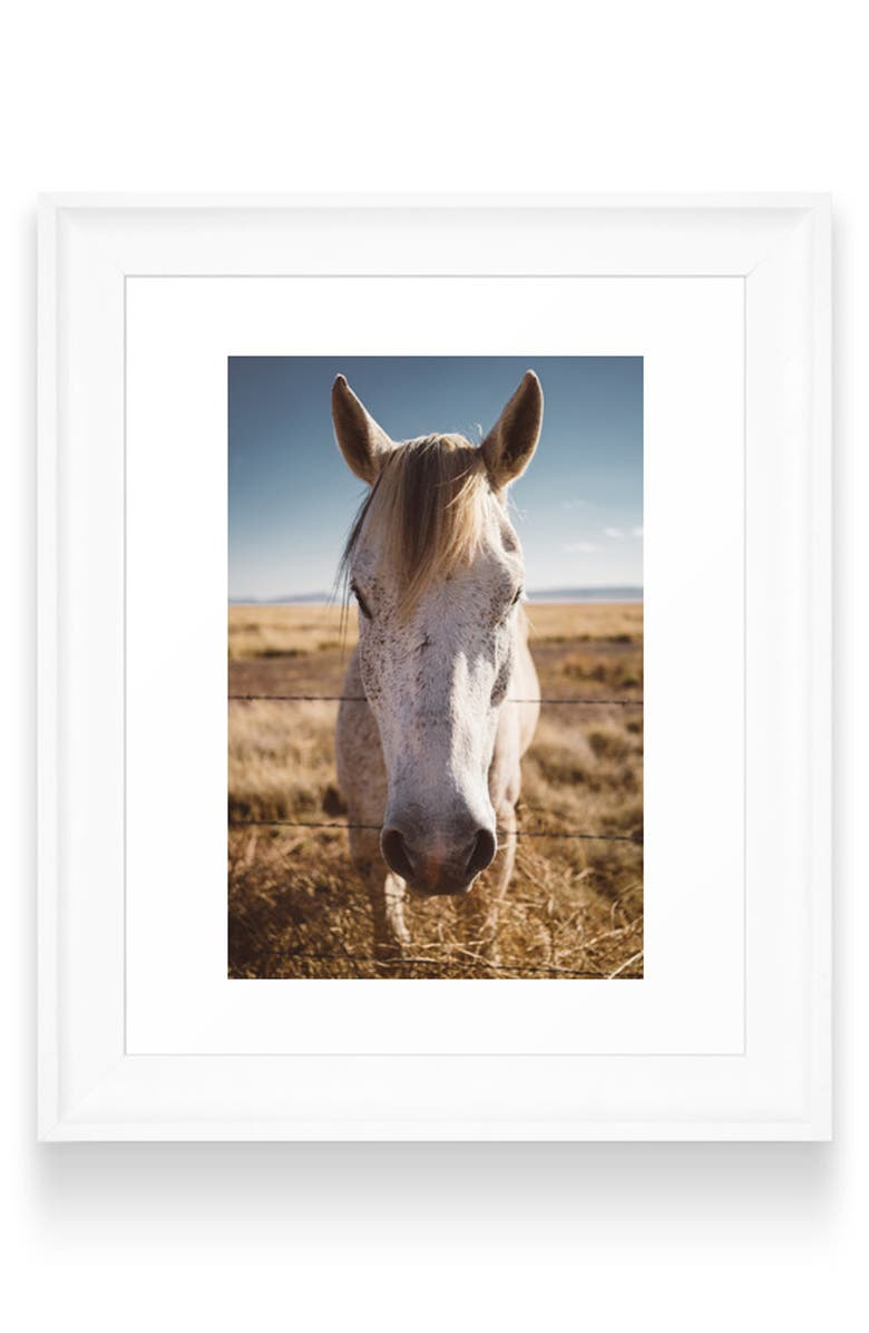 DENY DESIGNS West Texas Wild Art Print, Main, color, WHITE FRAME- 8X10