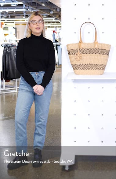 Miller Stripe Straw Tote, sales video thumbnail