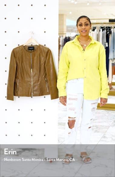 Courtney Glazed Lambskin Leather Jacket, sales video thumbnail