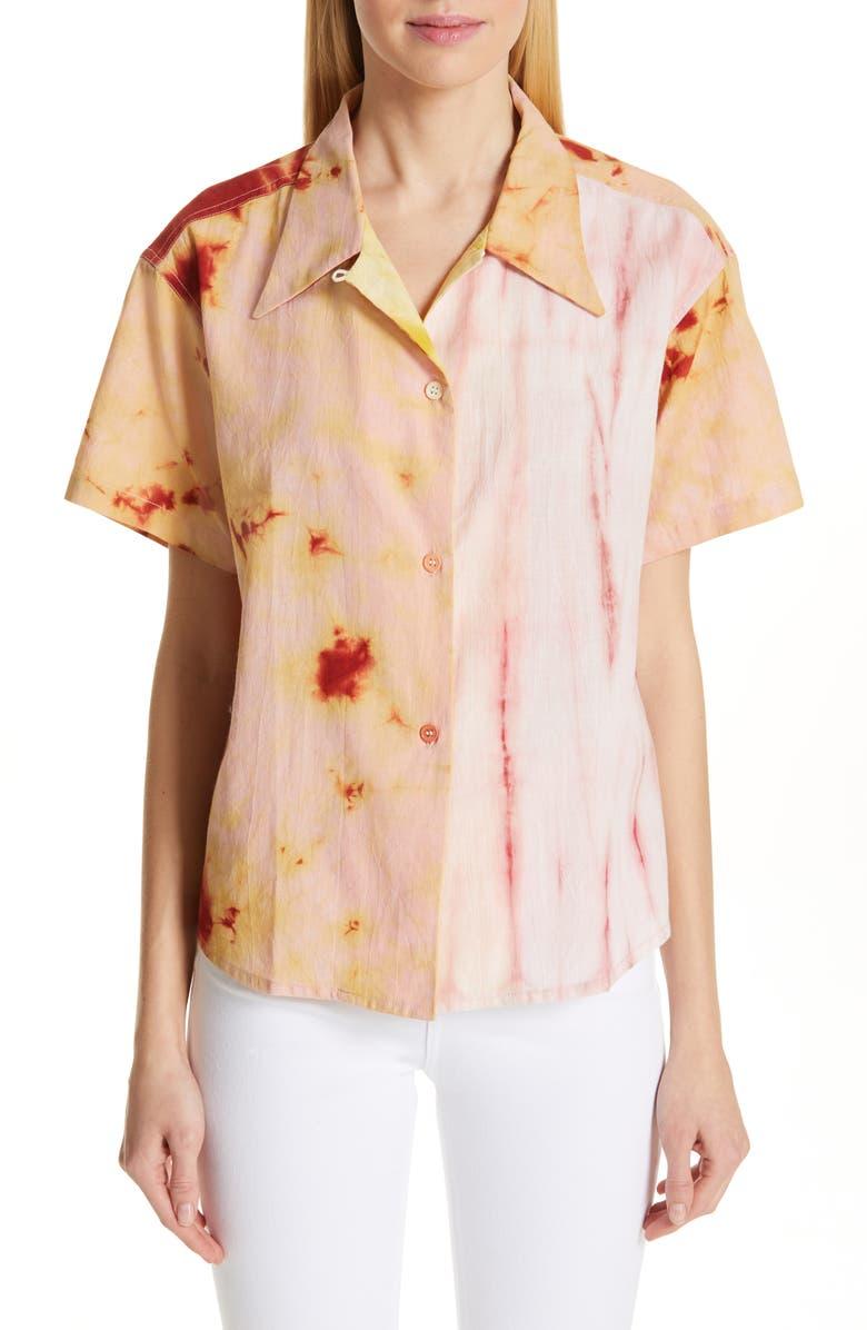 STORY MFG. Shorty Tie Dye Cotton Shirt, Main, color, 600