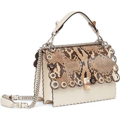 Fendi Small Kan I Genuine Python & Calfskin Shoulder Bag - Beige