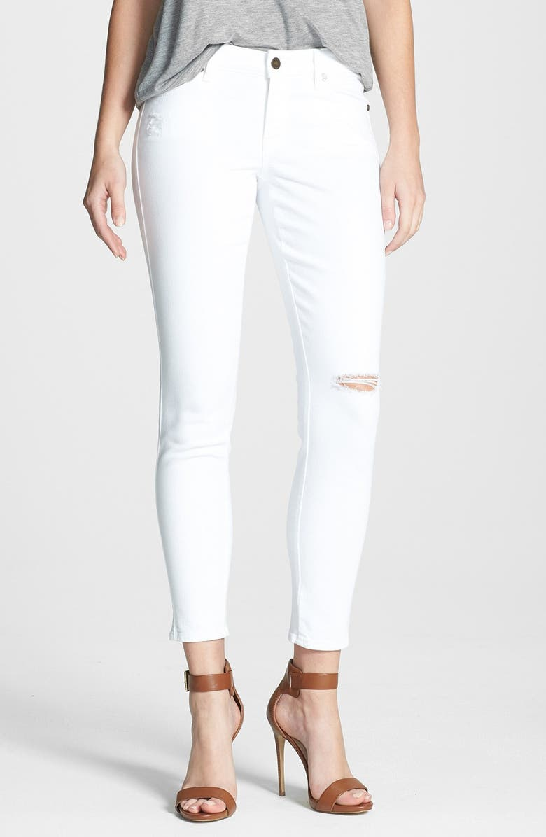 CJ BY COOKIE JOHNSON 'Wisdom' Ankle Skinny Jeans, Main, color, 100