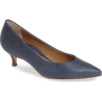 Vionic Josie Kitten Heel Pump, Blue