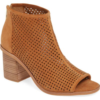 Vince Camuto Kareste Peep Toe Bootie- Brown