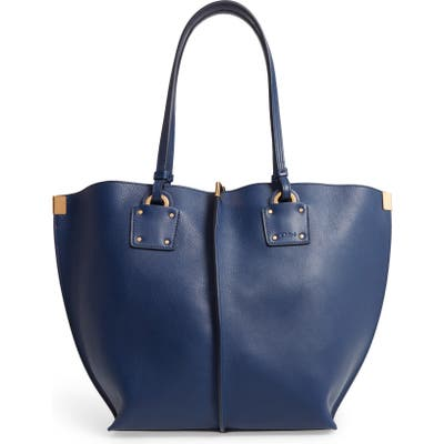 Chloe Vick Leather Tote - Blue