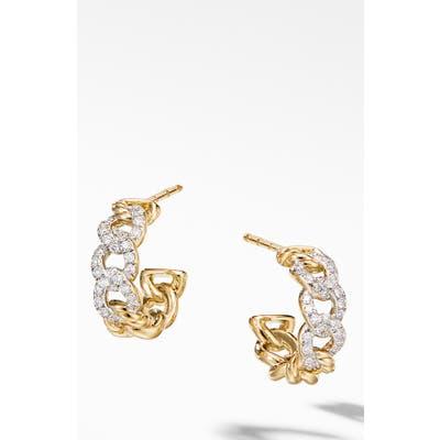 David Yurman Belmont Diamond Hoop Earrings