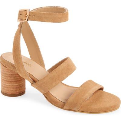 Kaanas Strappy Block Heel Sandal, Beige