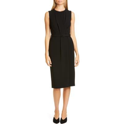 Lafayette 148 New York Jude Belted Sheath Dress, Black