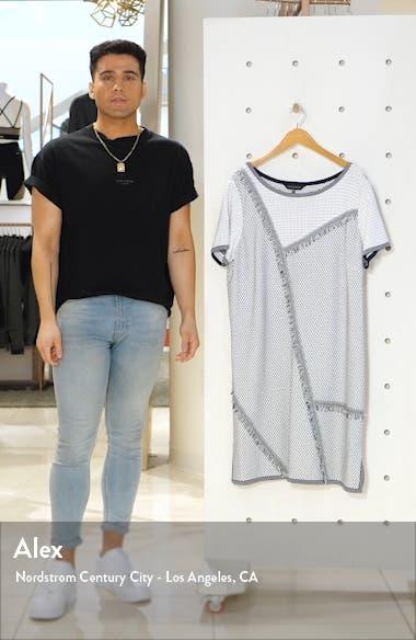 Fringe Trim A-Line Sweater Dress, sales video thumbnail