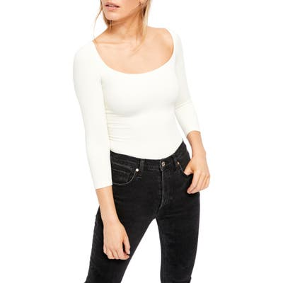 Free People Square Neck Tee, Ivory