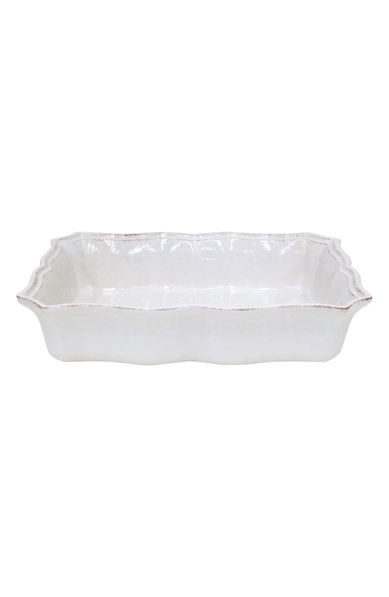 CASAFINA Impressions Rectangular Baker Dish, Main, color, WHITE