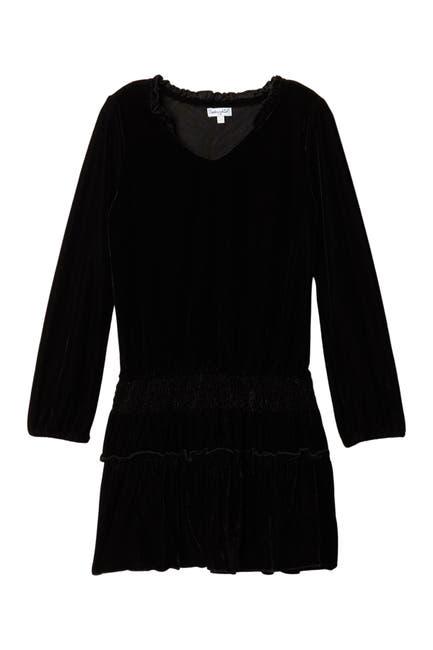 Image of ELLA MOSS GIRL Long Sleeve Velvet Dress